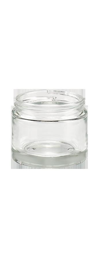 Pot cleopatre 60 ml contenant en verre transparent for Sol en verre transparent