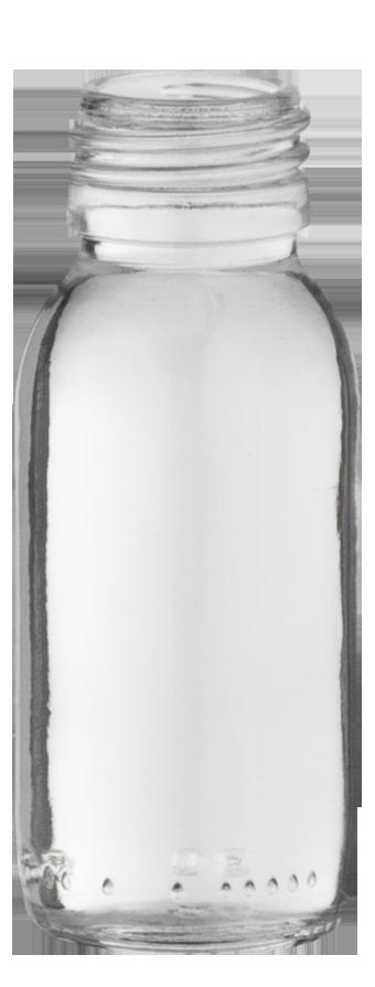 flacon sirop 60ml pp 28 verre transparent embelia. Black Bedroom Furniture Sets. Home Design Ideas