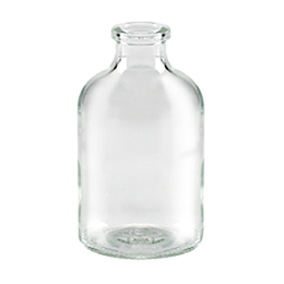 glass container antibiotique bottle 50ml wi 20 flint glass