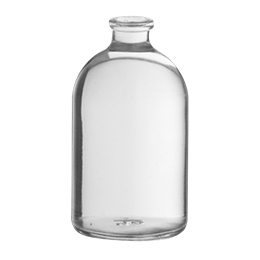 glass container antibiotique bottle 100 ml wi 20 flint glass