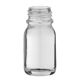 glass container rond e o  bottle 10ml pharma 18 flint glass