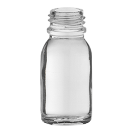 glass container rond e o  bottle 15ml pharma 18 flint glass