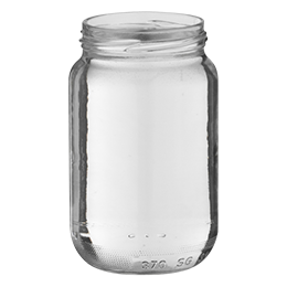 glass container food jar 370ml twist-off 63 flint glass