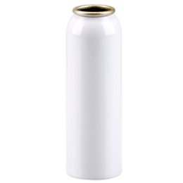 aluminium container douceur bottle -125ml1 inch -alu bpa free-white lacquered